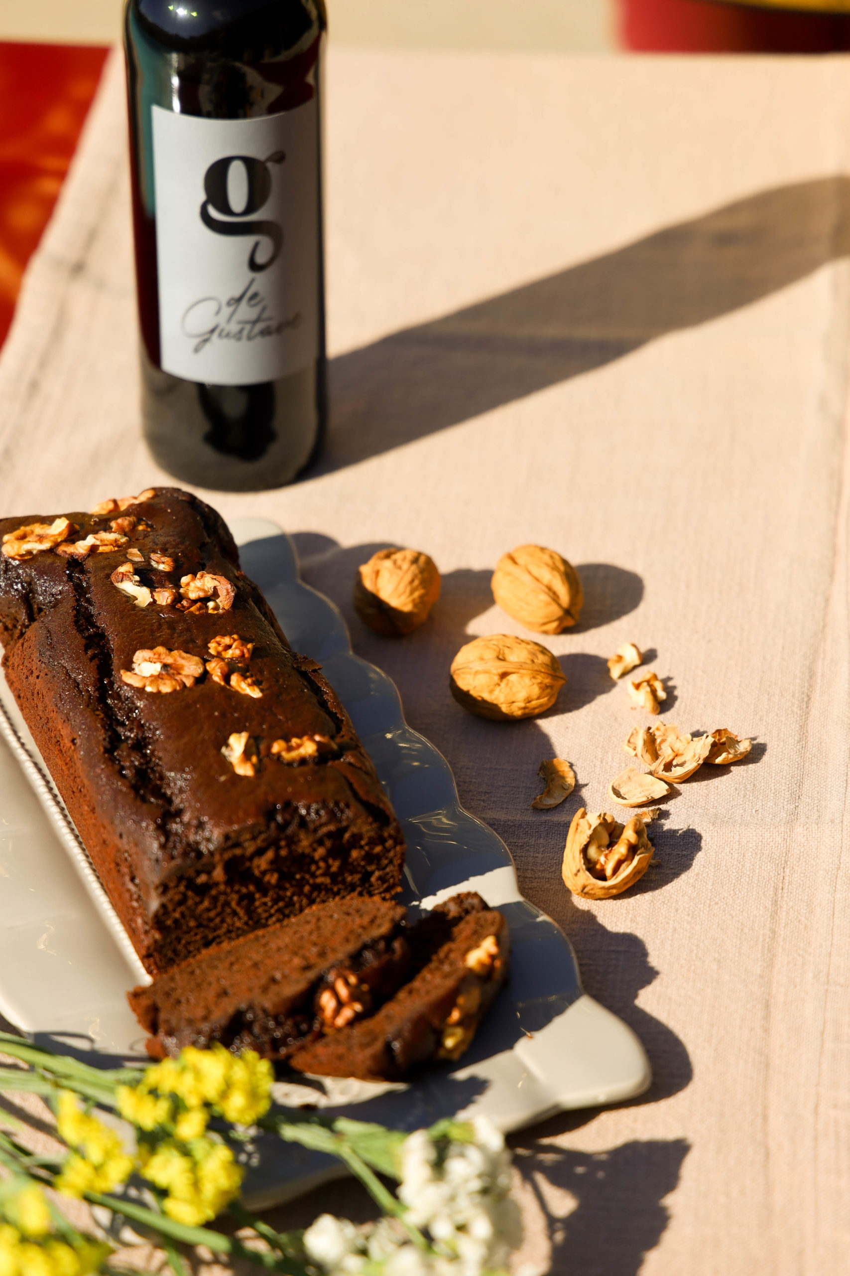 gateau au chocolat vins jean marie bion